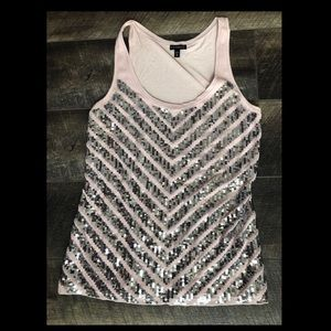 Sequined express tank top